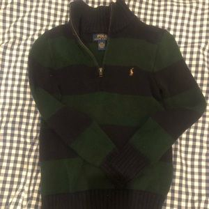 POLO sweater dark green navy size 8